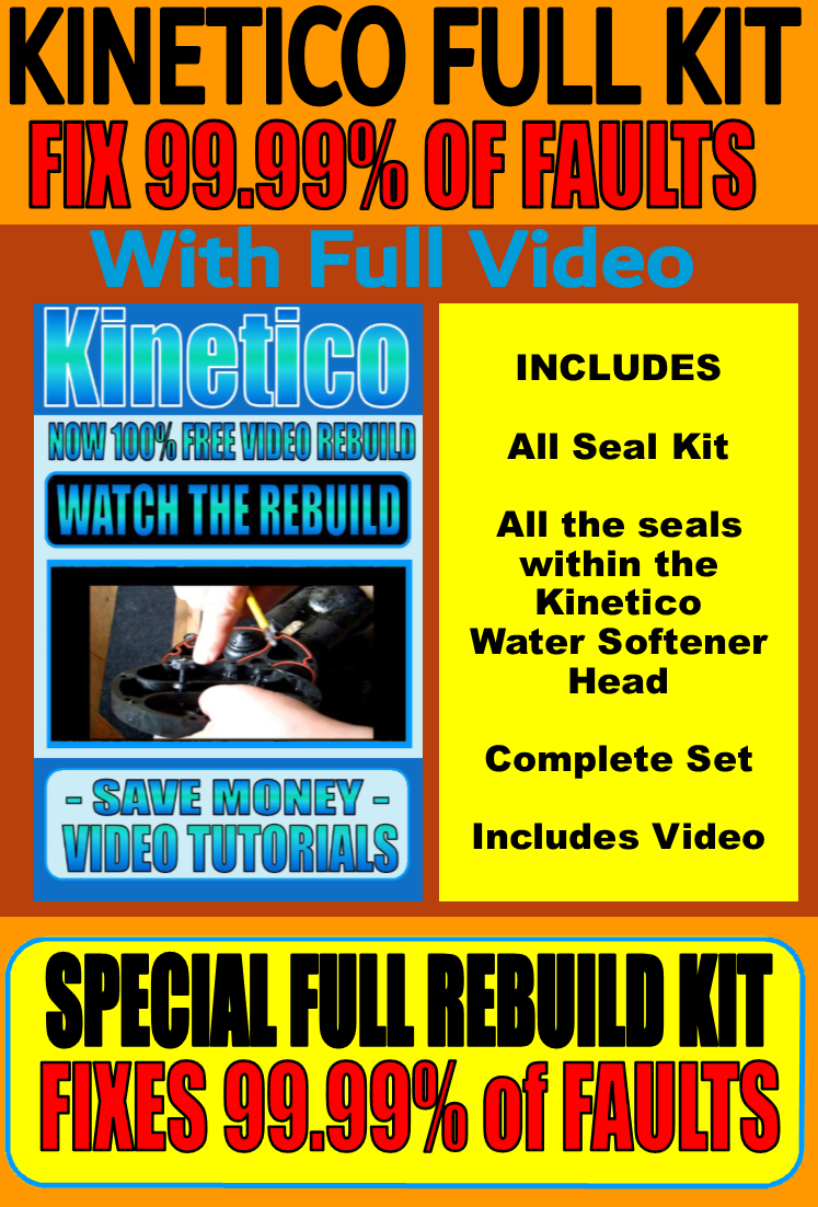 Kinetico Brand New Full Rebuild Kit Now With Every